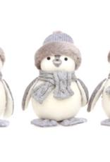 Niet specifiek Tweed vogel met grijze muts 22 cm