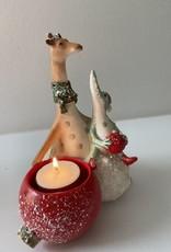 EDG FUN: Kerstkoppel Giraf met meneer Krokodil