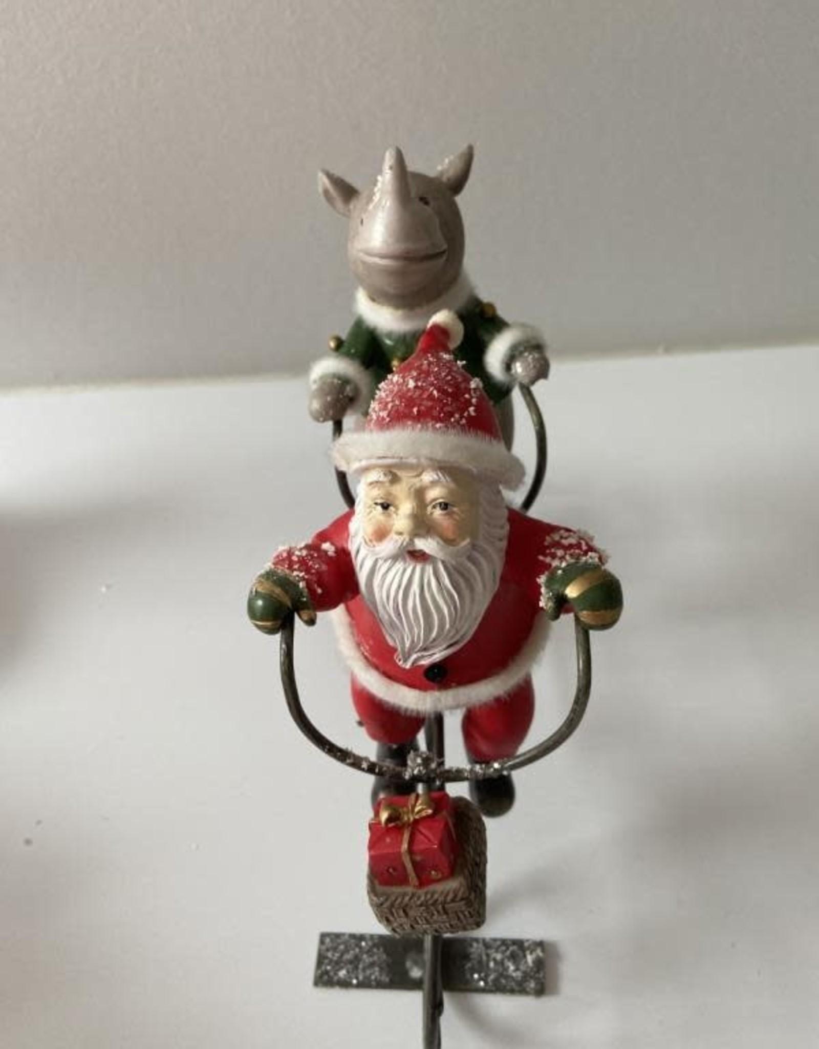 EDG FUN: Kerstman en Neushoorn op de tandem