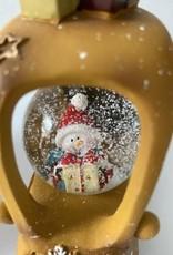 EDG FUN: Sneeuwbal auto met lichtjes Geel