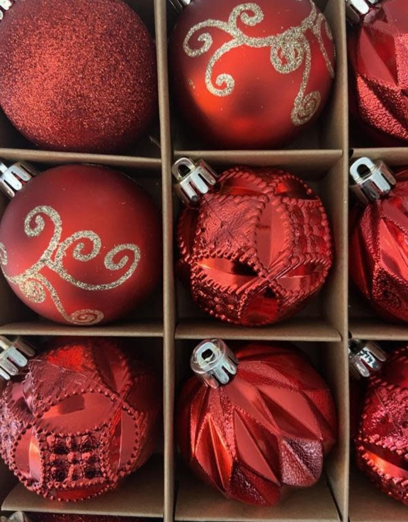 EDG Assortiment rode onbreekbare kerstballen