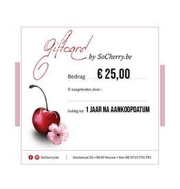 Geschenkbon 25 euro