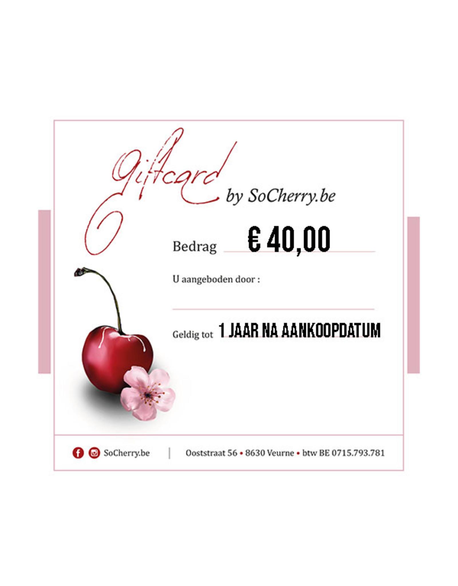 Geschenkbon 40 euro