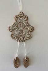 EDG Kerstkoekje met klokje met slinger  11 cm