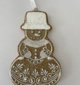 EDG Kerstkoekje sneeuwman  11 cm