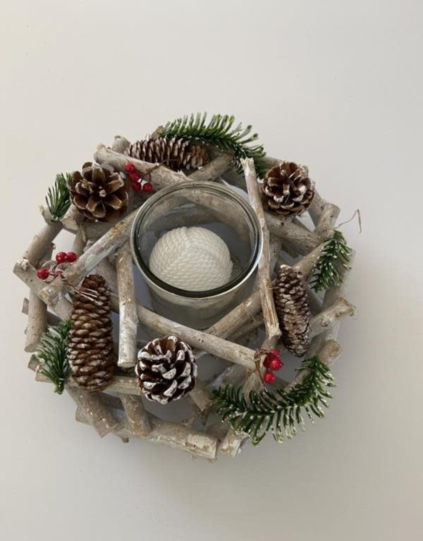 Kerststronk uitsparing voor 4 kaarsen 50 cm langHOME / KERST / KERSTSTRONK UITSPARING VOOR 4 KAARSEN 50 CM LANG