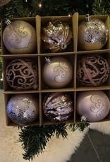 EDG Box met 9 onbreekbare ballen roze tinten