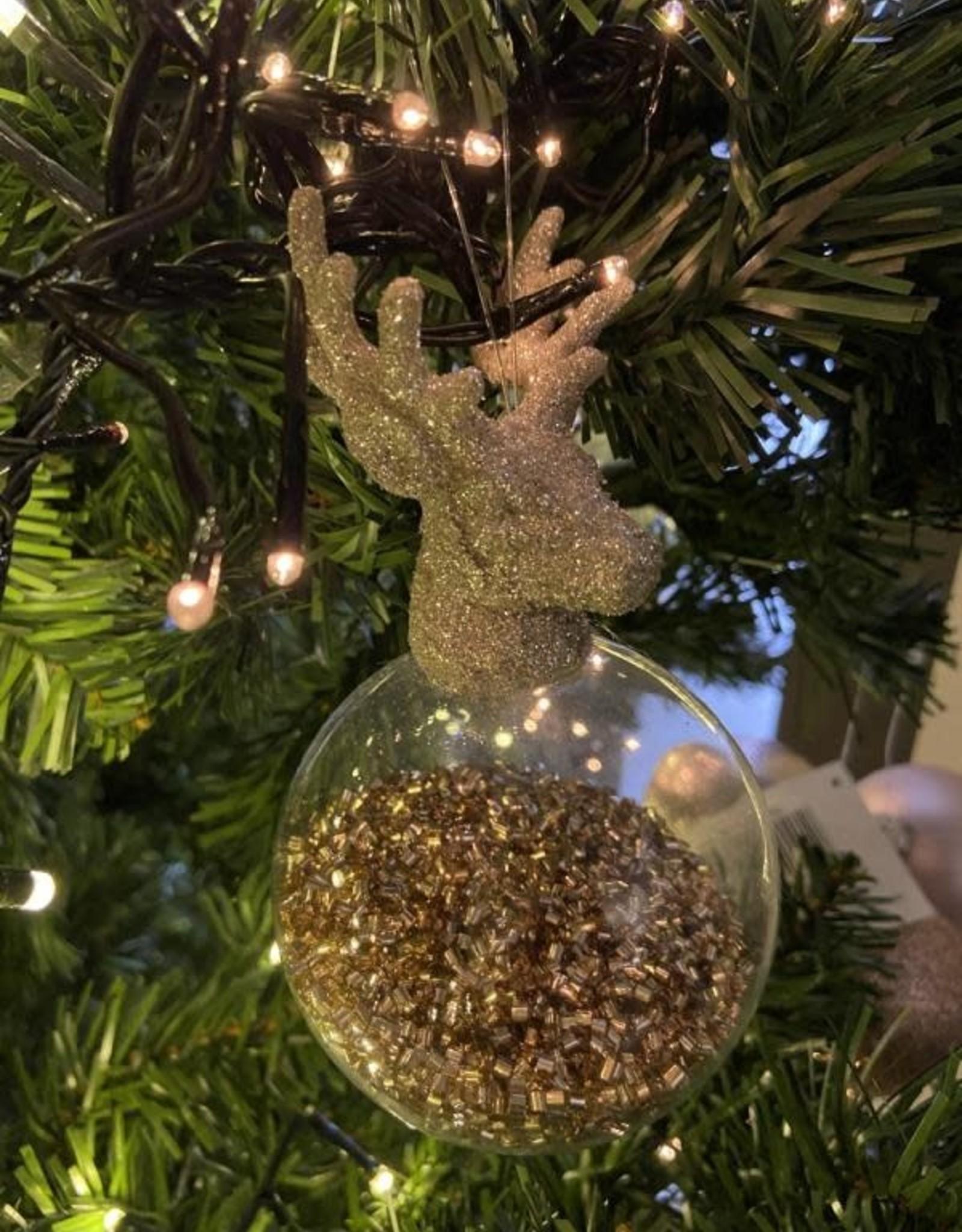 EDG Kerstbal met rendierkop 8 cm