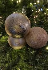 EDG Trio van lichtroze kerstbollen met motief
