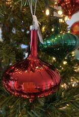 EDG Kerstbal kegel rood 8 cm