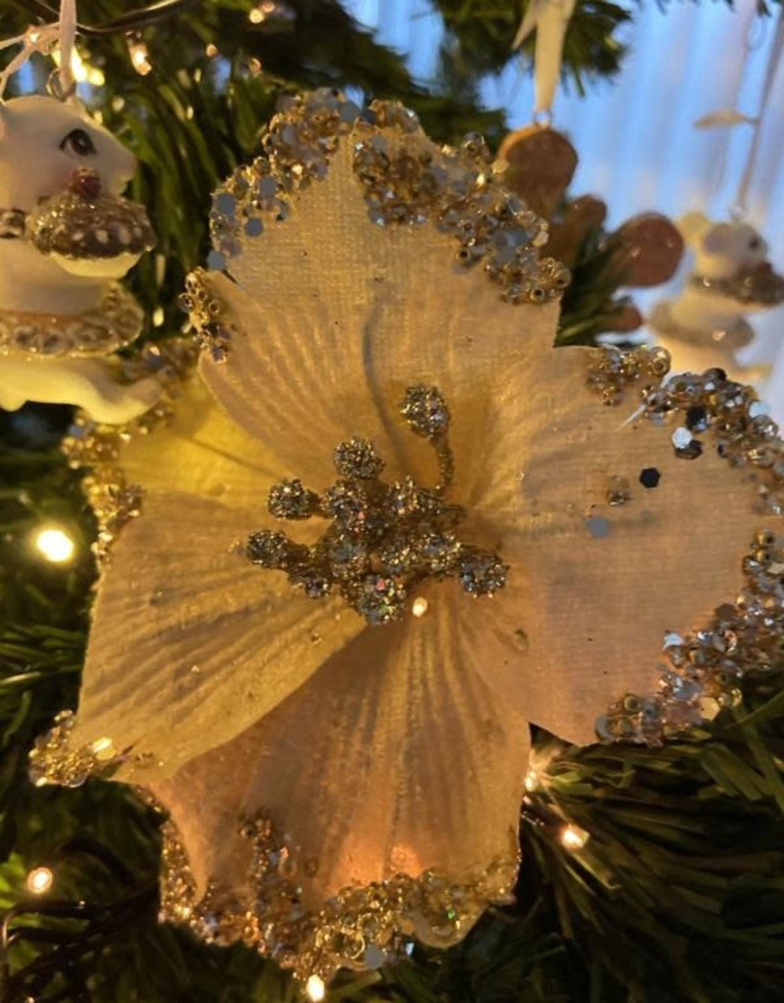 EDG Kerstbloem Champagne 15 cm