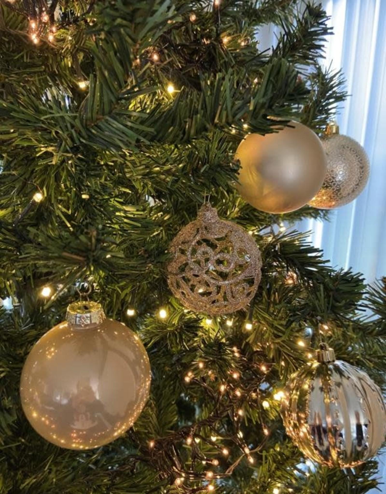 EDG assortiment van glazen kerstballen  8cm
