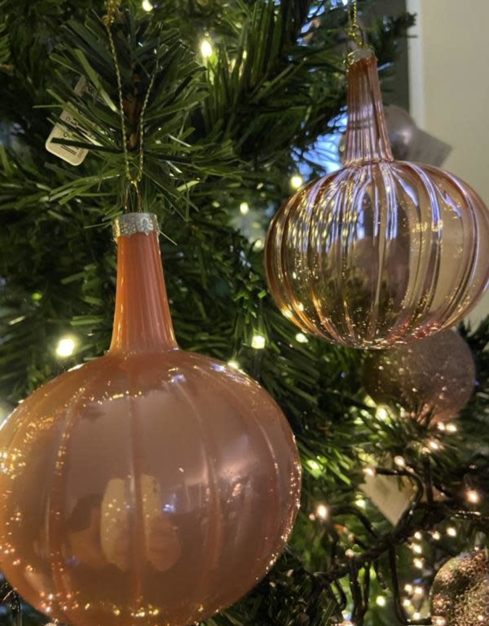 EDG Kerstbal kegel baby roos 8 cm