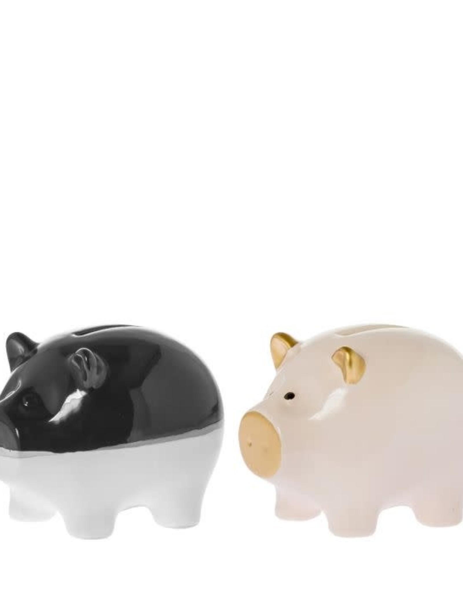 Riverdale Spaarvarken zwart/wit 10.5 CM