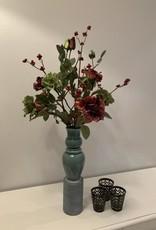 """Boeket met vaas """"wild in a vase"""""""