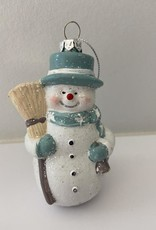 Niet specifiek Sneeuwpop met borstel onbreekbaar 5x6.5x11cm