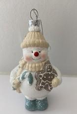 Niet specifiek sneeuwpop met koekje onbreekbaar 5x6.5x11cm