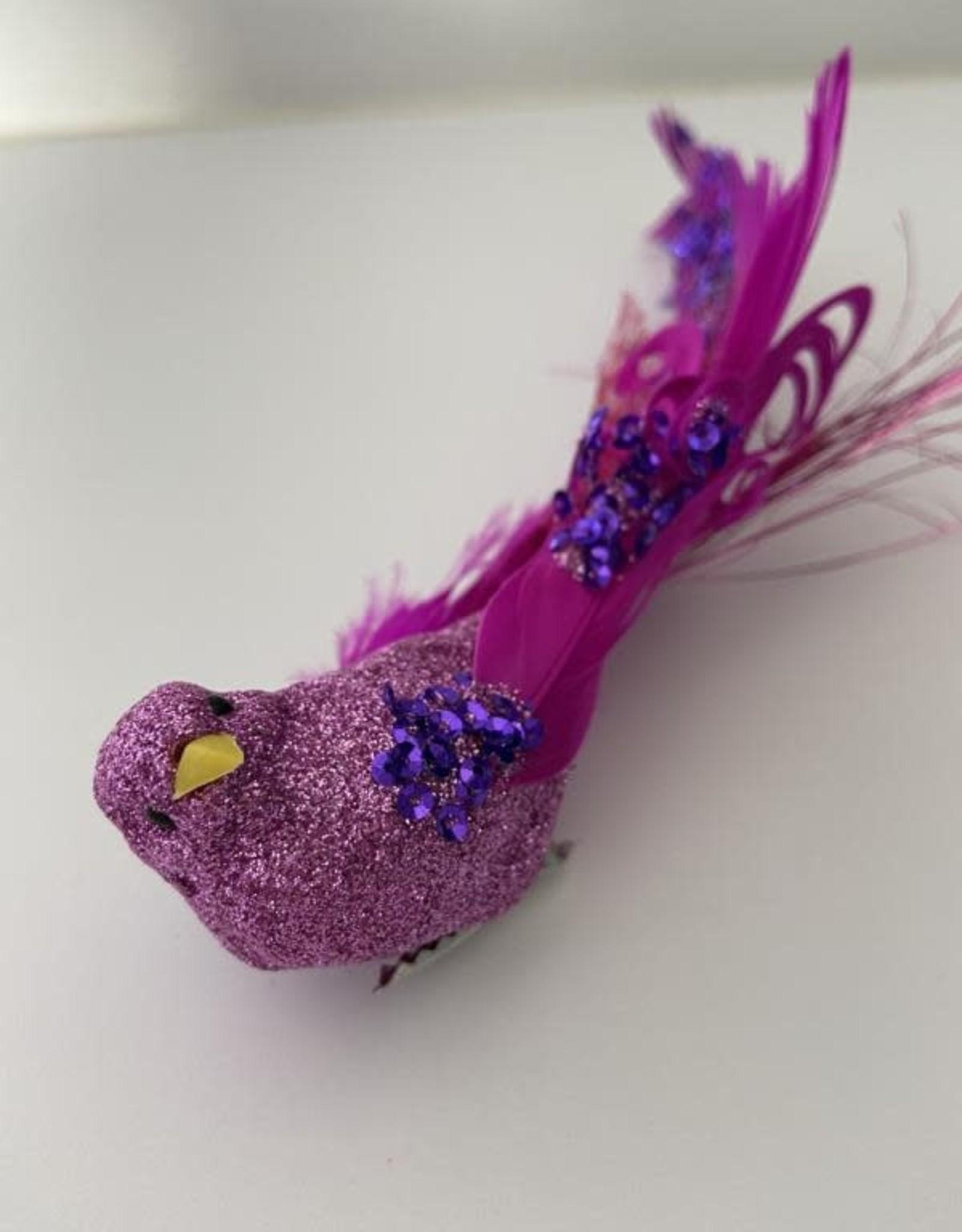 Niet specifiek Sierlijke Fusia vogel met clip 20 cm