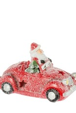Riverdale Kerstman in sportauto