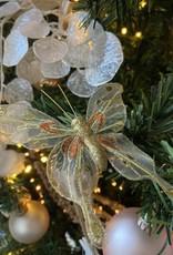Niet specifiek Vlinder van 12,5cm glitter op clip Goudekleurig
