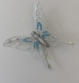 Niet specifiek Copy of Vlinder van 12,5cm glitter op clip Goudekleurig