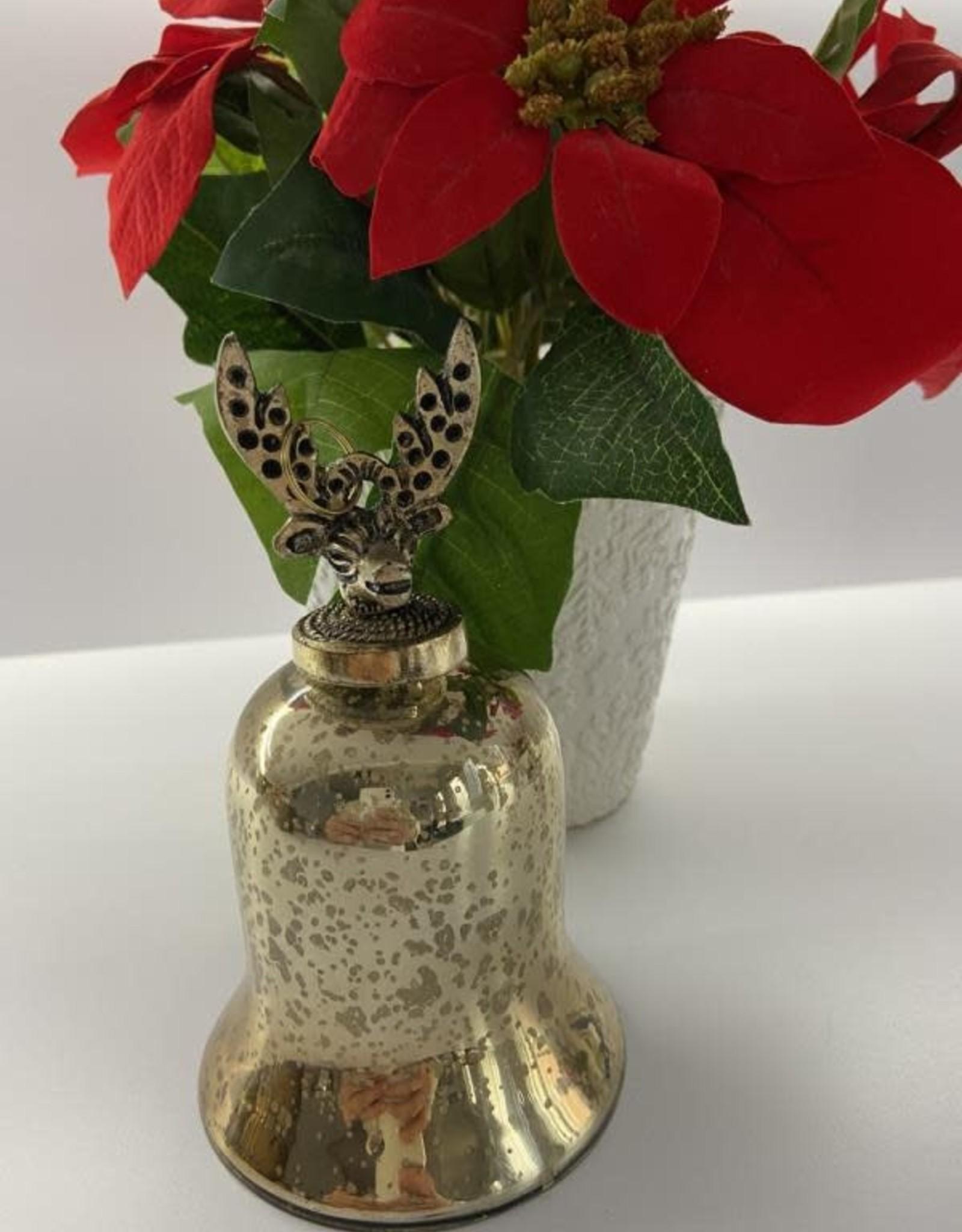 Niet specifiek kerstbal glas antiek-look klok
