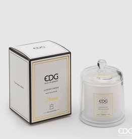 EDG Geurkaars met glazenstolp (wit)