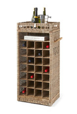 Rivièra Maison Rustic Rattan Wine Rack 28 Bottles