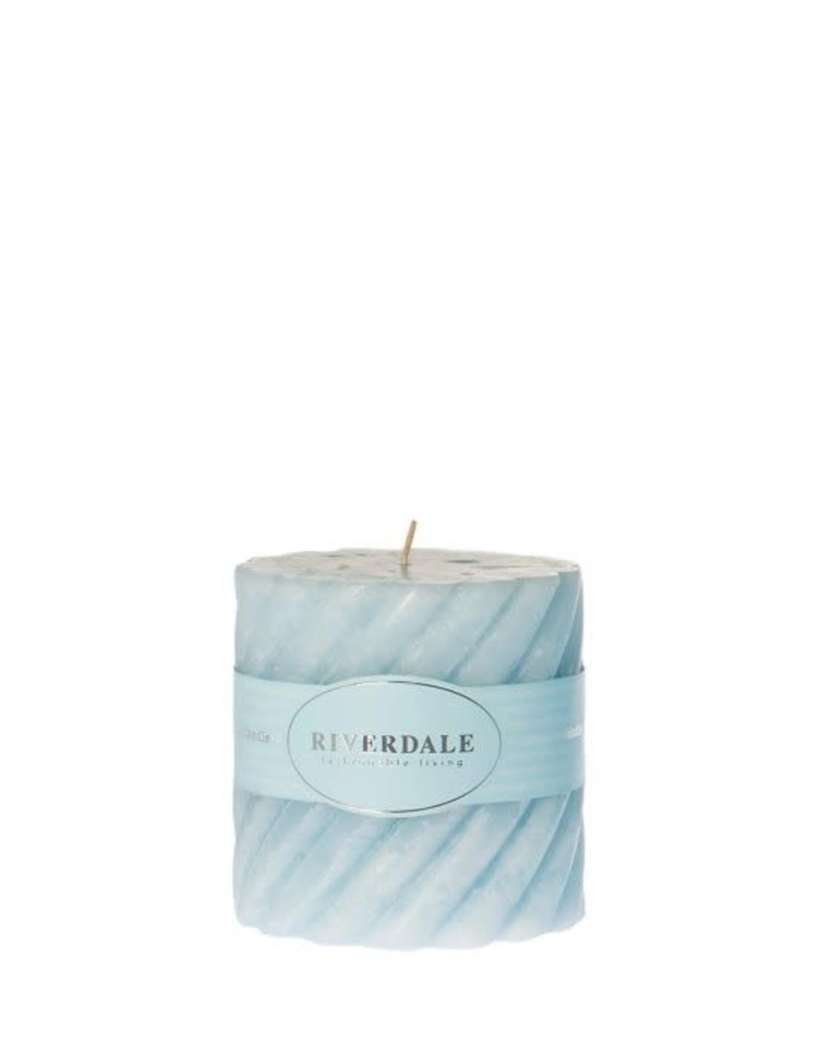 Riverdale Kaars Swirl licht 7,5x7,5cm