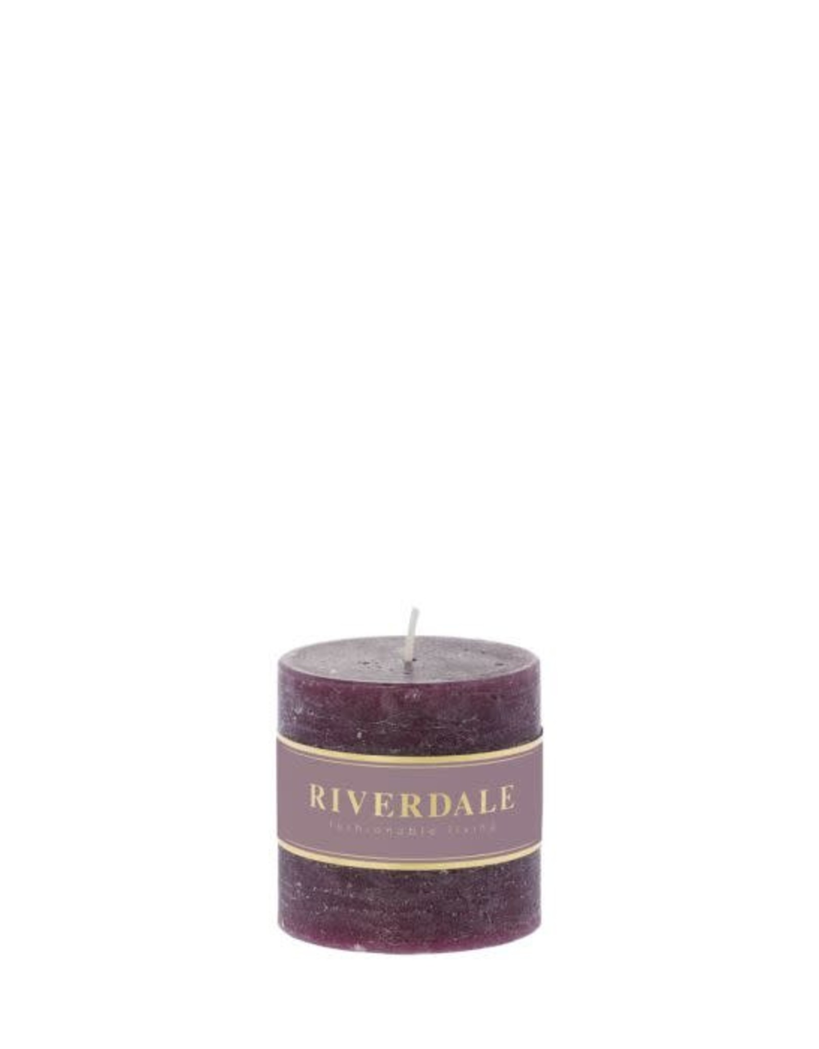 Riverdale Geurkaars Pillar dark burg 7.5x7.5c