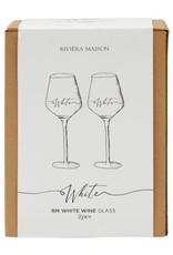 Rivièra Maison RM White Wine Glass 2 pc
