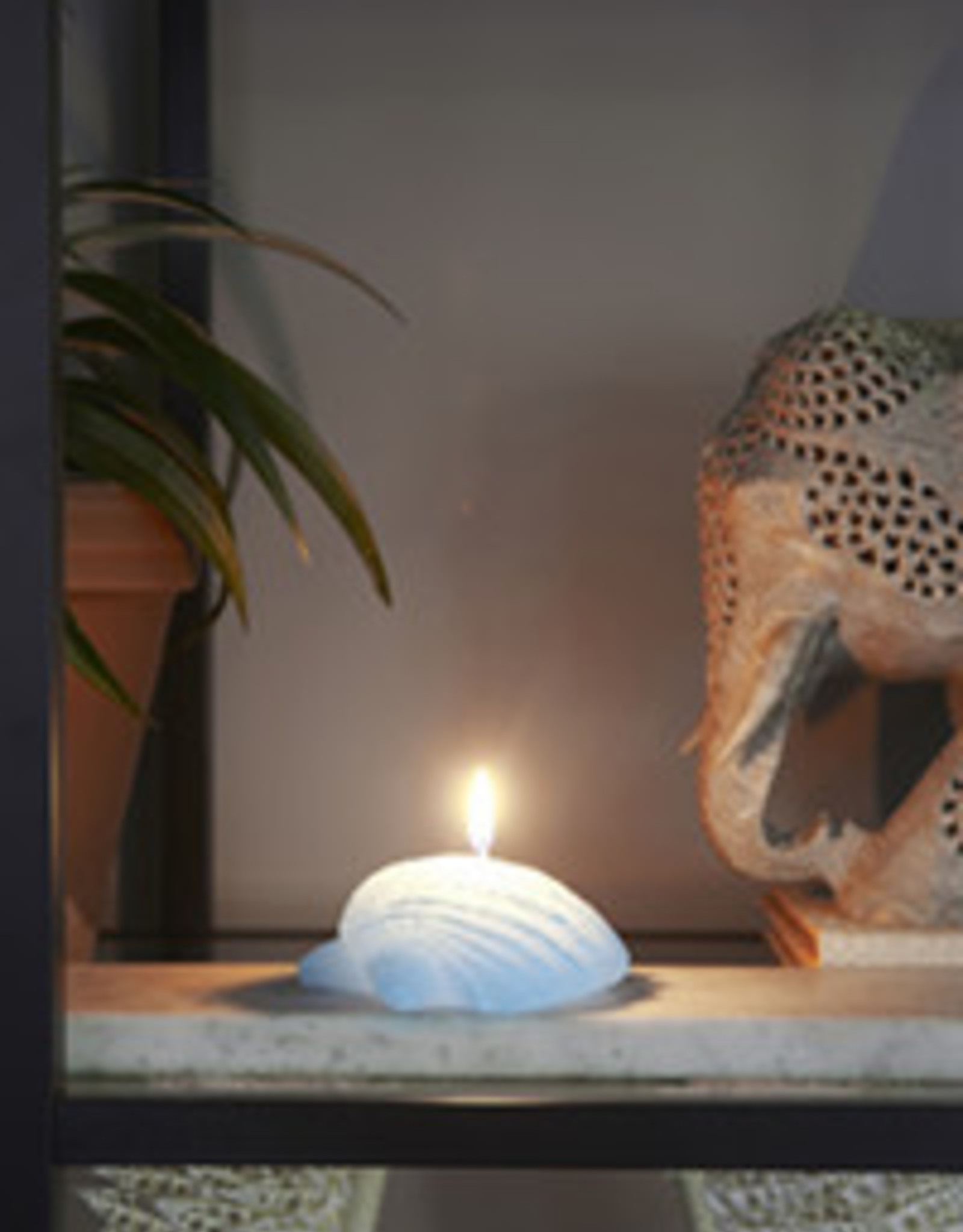 Rivièra Maison Seashell Candle blue