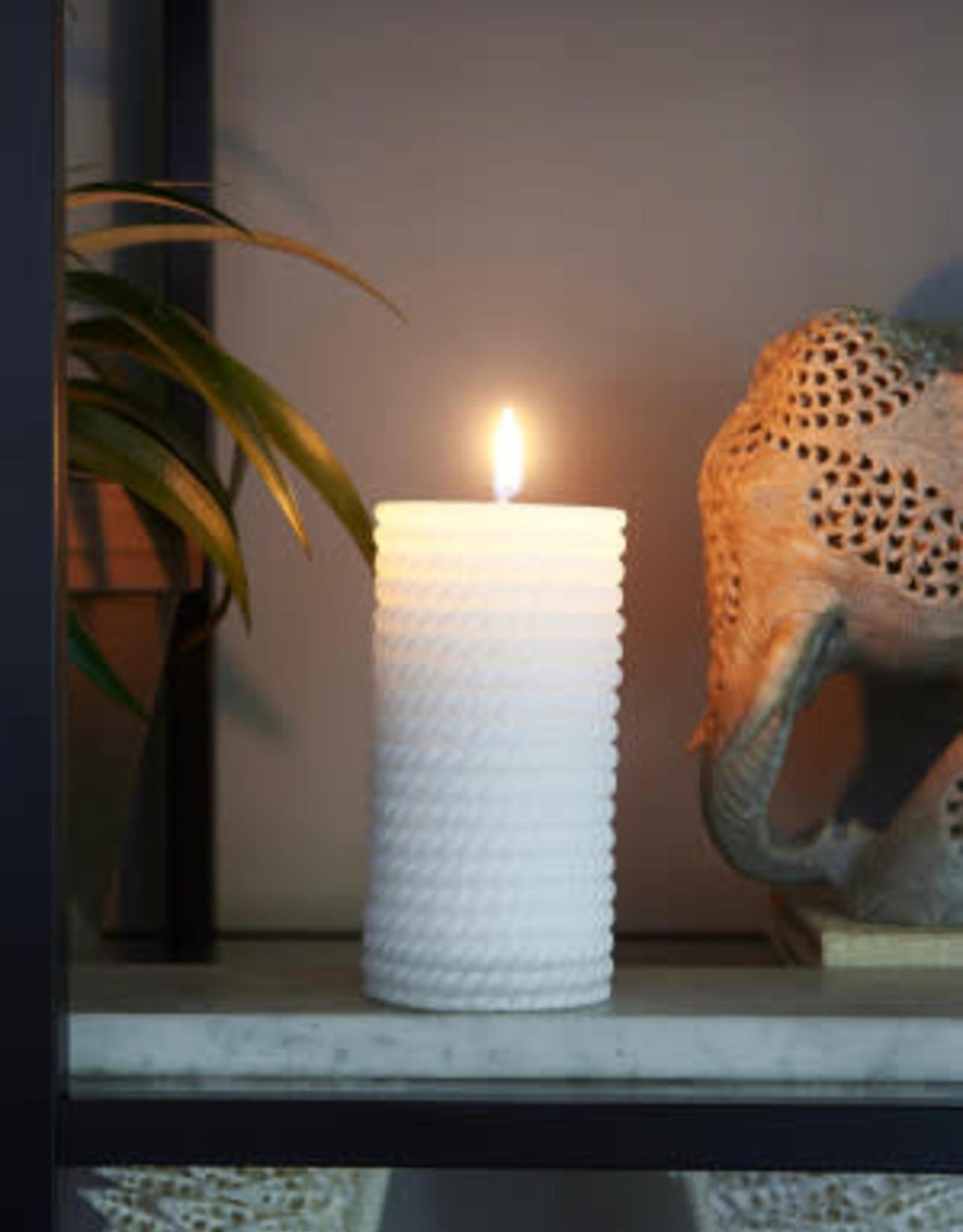 Rivièra Maison Sailor Rope Candle white 7x15