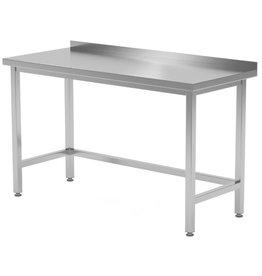 Werktafel met open onderkant verstevigd | 400-1900mm breed | 600 of 700mm diep