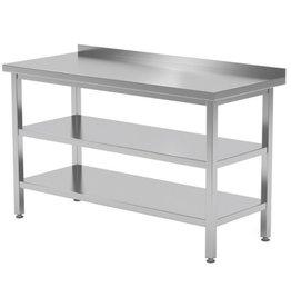 Werktafel met dubbele onderplank | 400-1900mm breed | 600 of 700mm diep