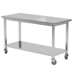 Werktafel met onderplank en wielen | 1000-1600mm breed | 600 of 700mm diep