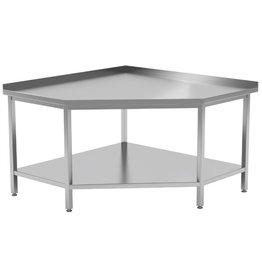 Werktafel hoekmodel met onderplank | 900-1000mm breed | 600 of 700mm diep