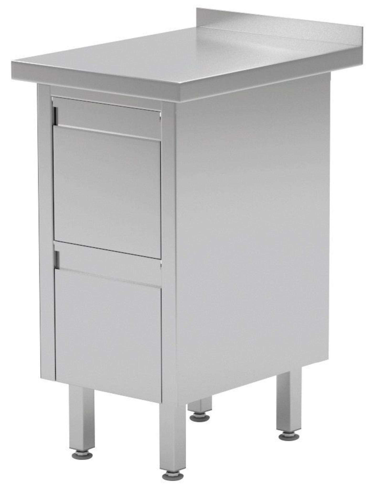 Werktafel met 2 lades | 430mm breed | 600 of 700mm diep