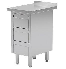 Werktafel met 3 lades | 430mm breed | 600 of 700mm diep
