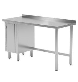 Werktafel met kastje links | 800-1900mm breed | 600 of 700mm diep