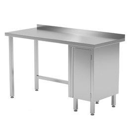 Werktafel met kastje rechts | 800-1900mm breed | 600 of 700mm diep