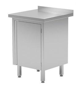 Werktafel met kast | 1 klapdeur |  | 430-600mm breed | 600 of 700mm diep
