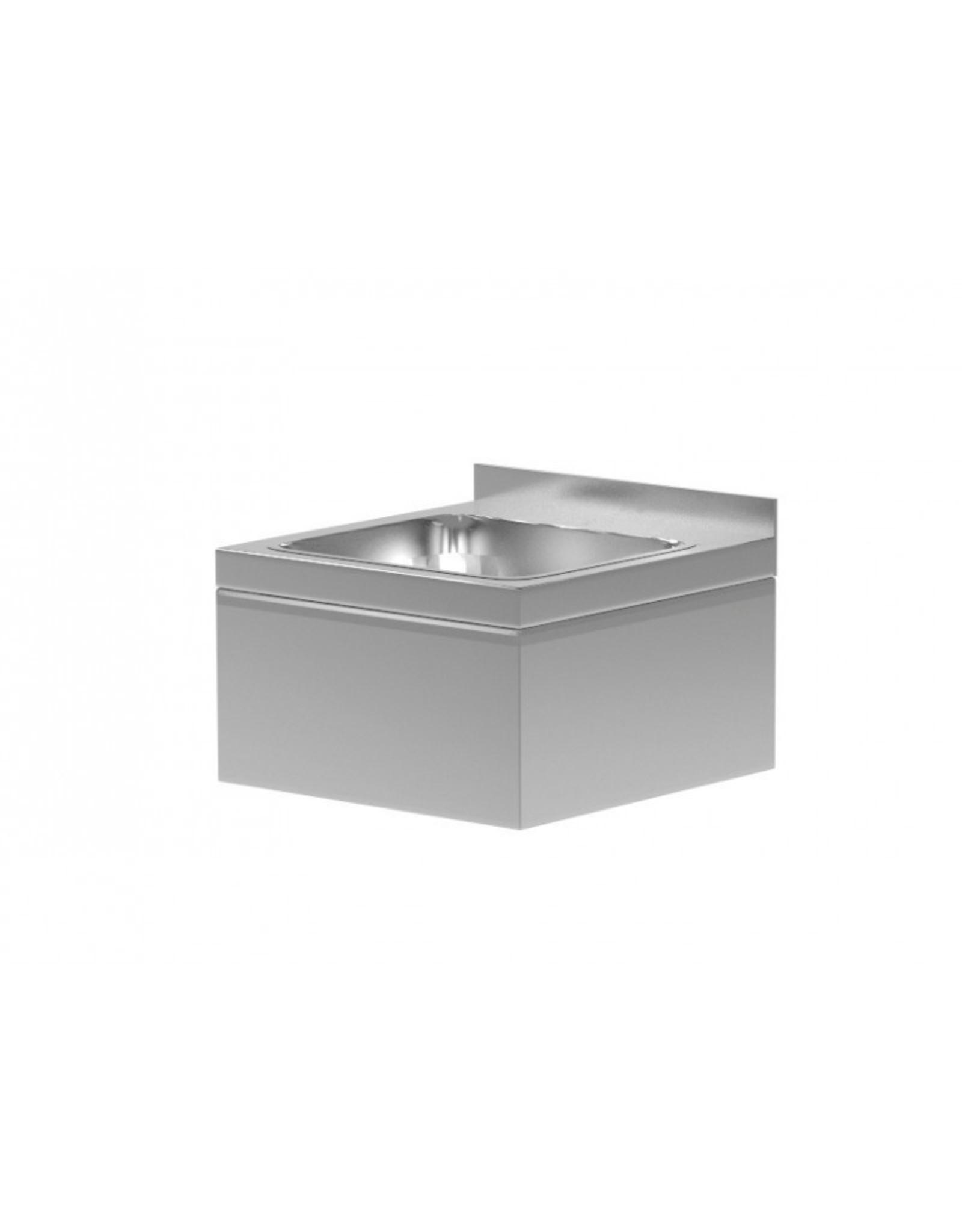 Spoelbak wandmodel | met omkasting | rechthoekig model | 400mm breed | 295mm diep
