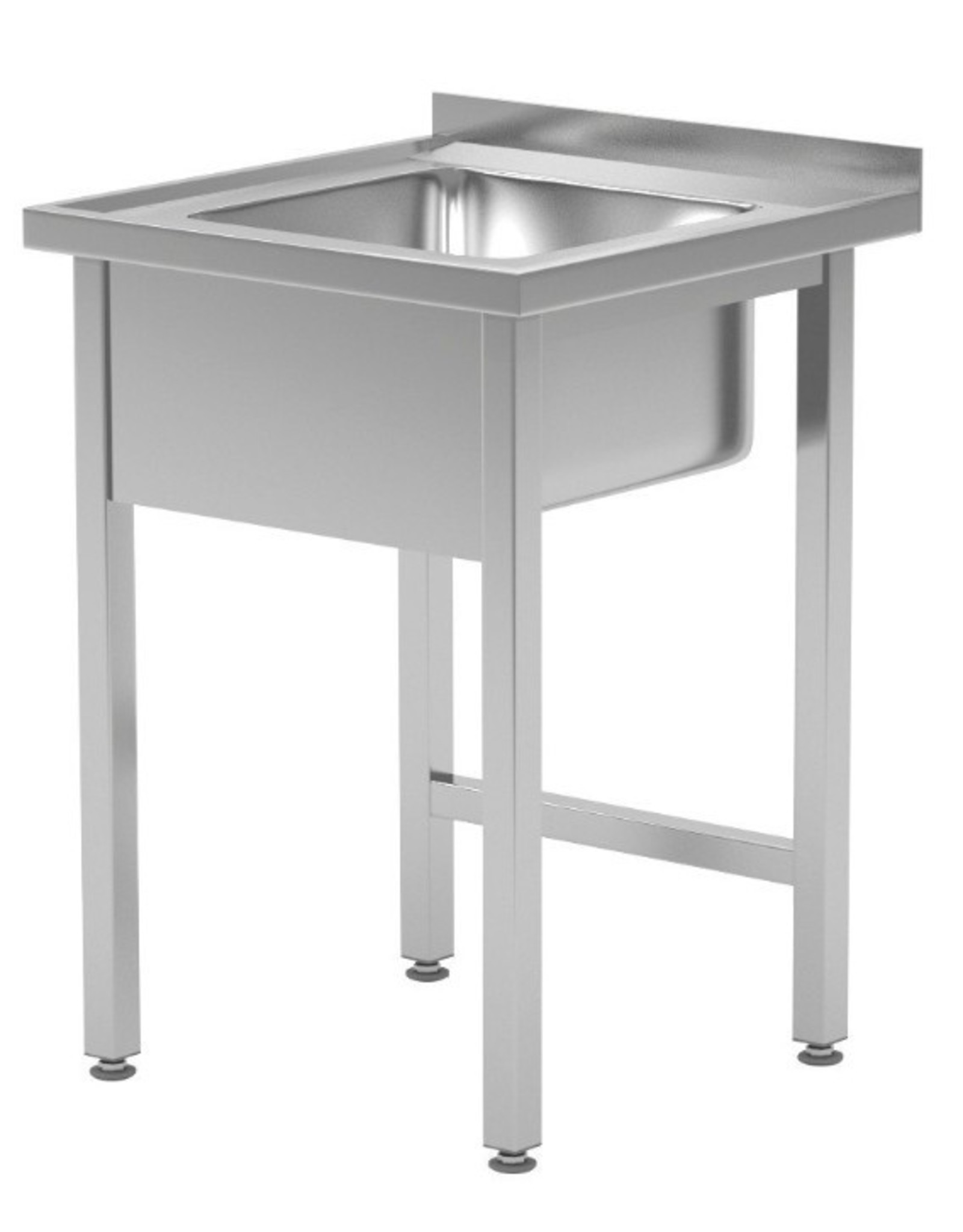 Spoeltafel   open onderkant   600-700mm breed   600 of 700mm diep