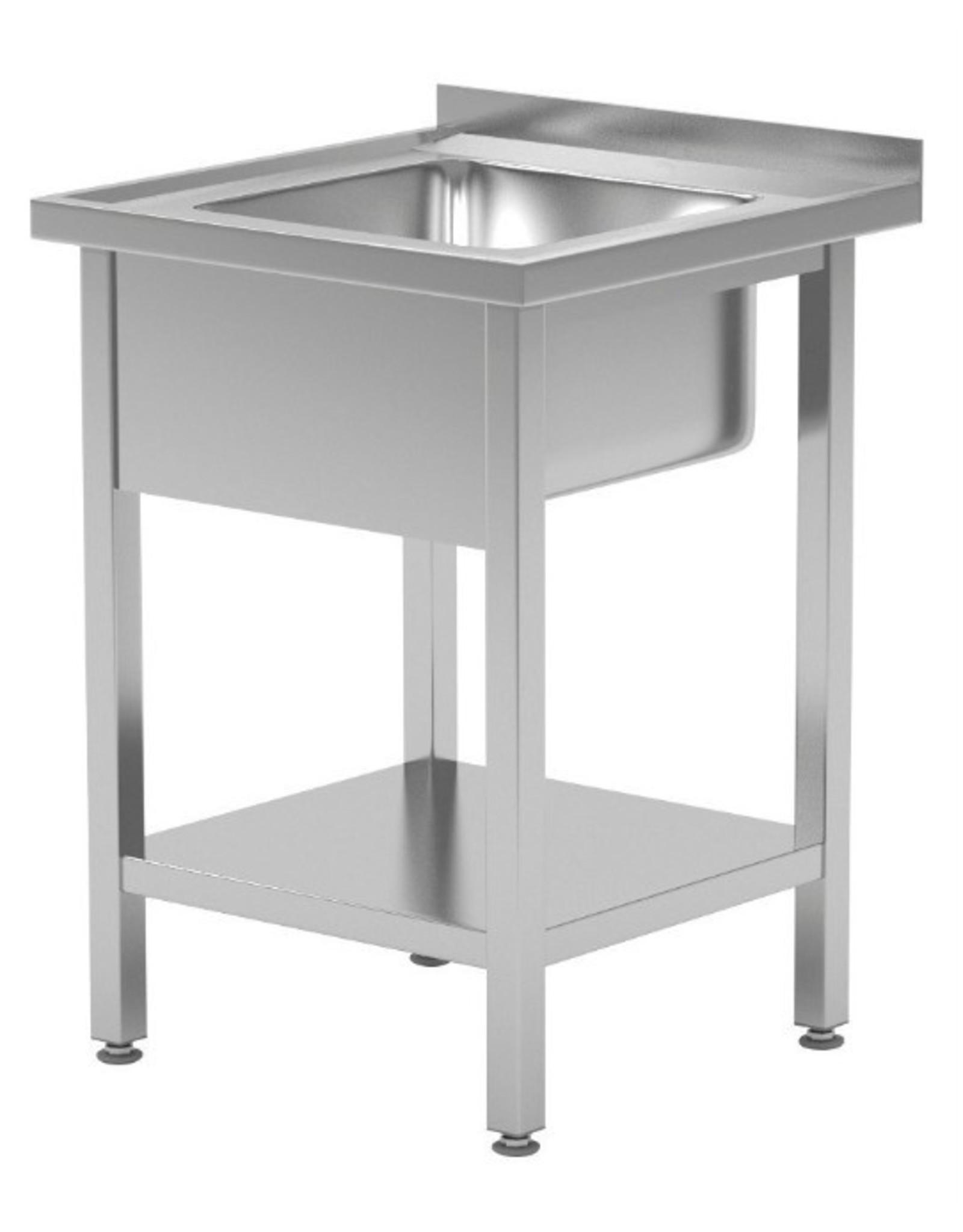 Spoeltafel | met onderplank | 600-700mm breed | 600 of 700mm diep