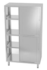 Kast pass-through met boven en onder schuifdeuren | 800-1200mm breed | 500-700mm diep | 1800mm hoog