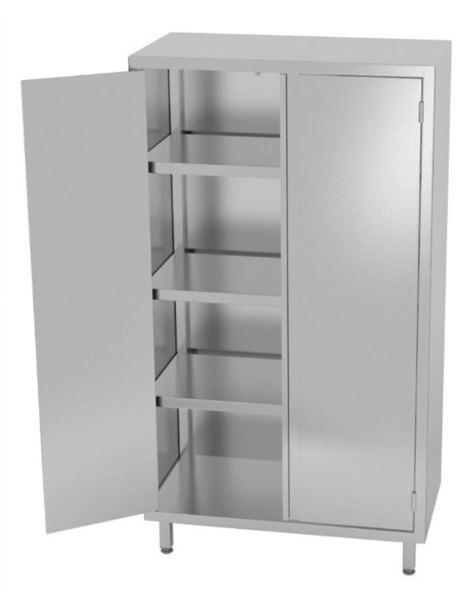 Kast met dubbele klapdeuren | 700-1200mm breed | 500-700mm diep | 1800mm hoog