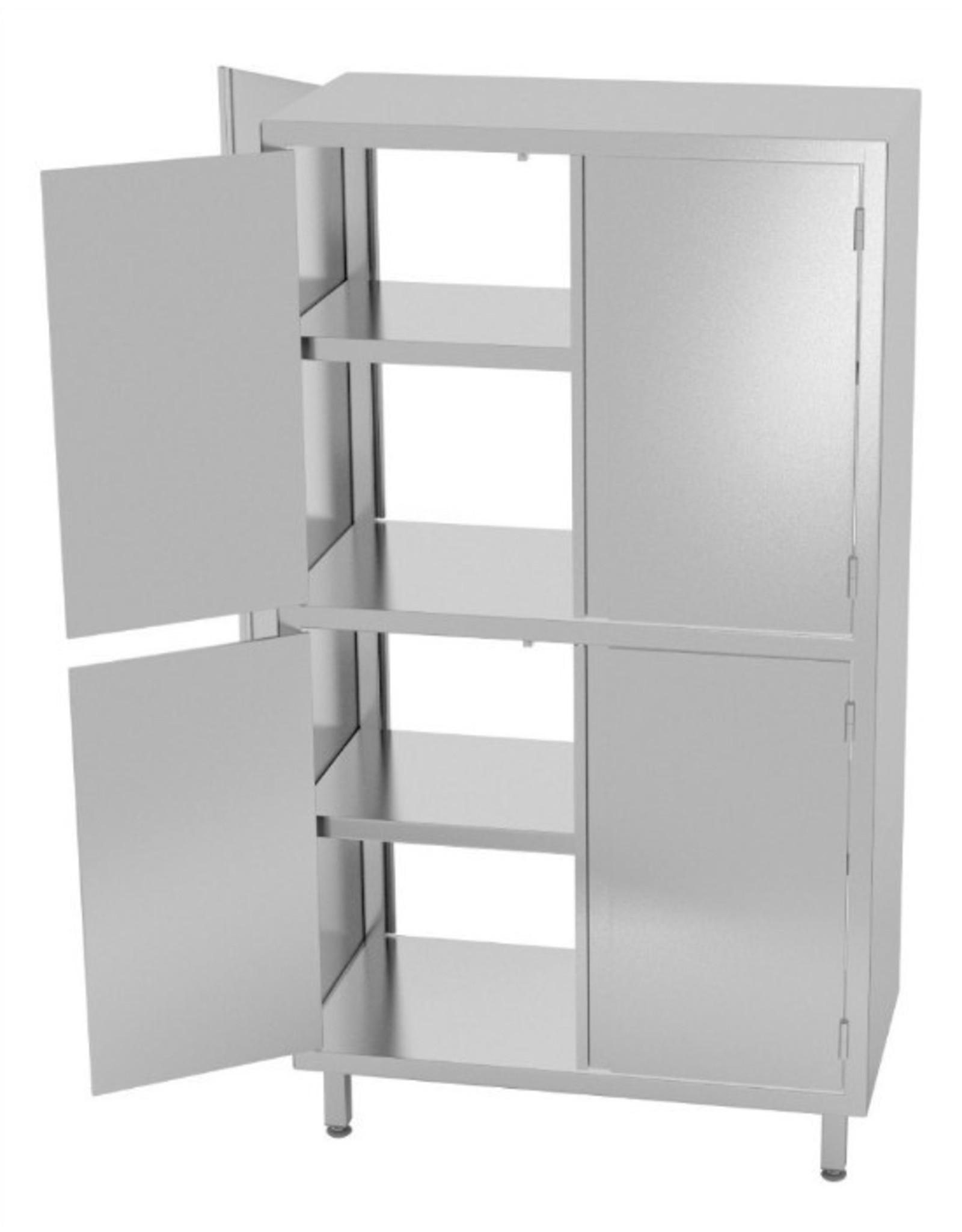 Kast pass-through met boven en onder dubbele klapdeuren | 800-1200mm breed | 500-700mm diep | 1800mm hoog