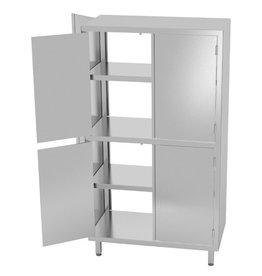 Kast pass-through met boven en onder dubbele klapdeuren | 800-1200mm breed | 500-700mm diep | 2000mm hoog