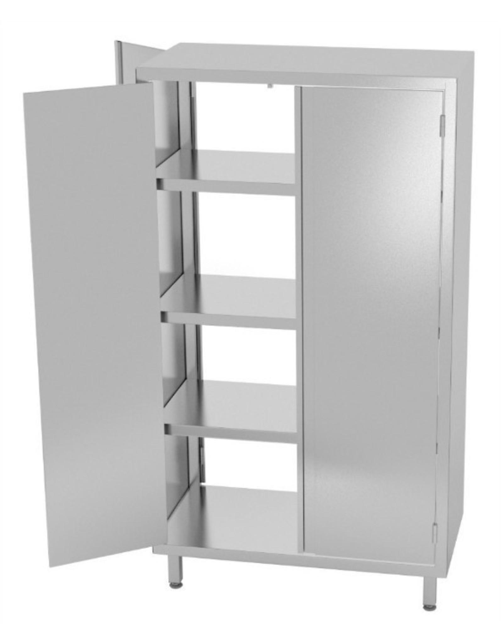 Kast pass-through met dubbele klapdeuren | 700-1200mm breed | 500-700mm diep | 1800mm hoog